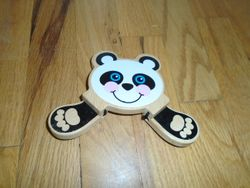 Melissa & Doug Peek-a-Boo Panda Wooden Baby Toy - $8