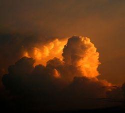 Sunrise clouds in northern Iowa, USA