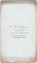 C. W. Tallman, photographer of Batavia, NY - back
