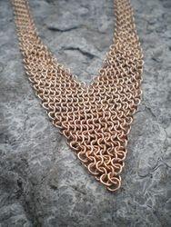Bronze V-neck