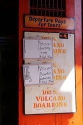 Volcano boarding, Nicaragua 1