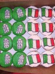 Italy Themed Cupcakes