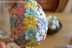 Flower Covered Easter Egg