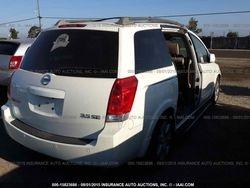 2005 NISSAN QUEST WHITE 3.5L V6 FWD