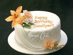 Orange and white cake