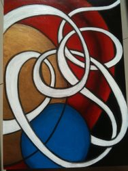 Spheres and line 2 (SOLD)
