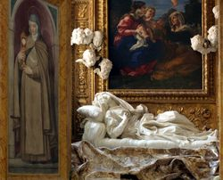 Bernini, Death of the Blessed Ludovica Albertoni with St. Clare Holding the Eucharist at left