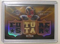 2010 Sam Bradford Rookie Triple Threads 1/1  #8/27 RC