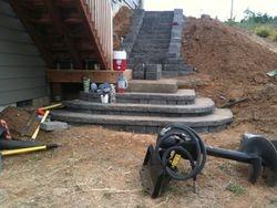 retaining wall & steeps