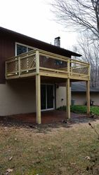 10 X 15 Pressure Treated Deck With Glass Rails 1