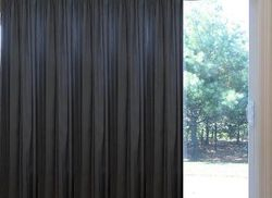 Solid Faux Silk   Grommet  Patio Thermal Curtains 100W X 84L