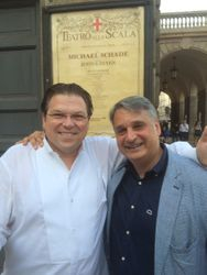 With UWO classmate Michael Schade at his La Scala recital
