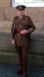 Guy Story wearing his Officers SD cap, tunic and breeches