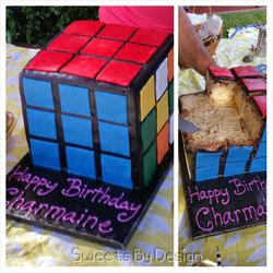Puzzle Cube Cake