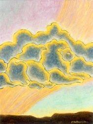 Lion Guidance Above, Oil Pastel, 11x14