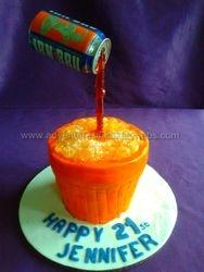Irn Bru (Illusion ) Cake