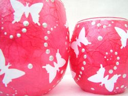 Shocking Pink and White Butterflies