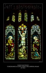 Stained Glass Window St Bartholomew's & St John's Church, Great Harwood, England 1