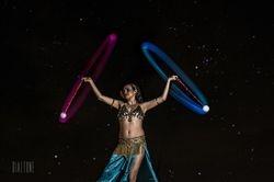 Glowing spinning balls