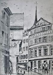 La ville de Colmar, Alsace