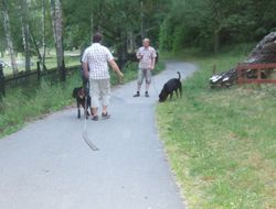 Gunnar, Frode, Lena & the dogs:)