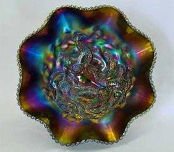 Farmyard 8 ruffled bowl - purple