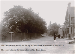 Grove Lane, Handsworth. c1908.