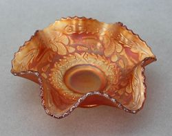 Little Fishes ruffled bowl, marigold