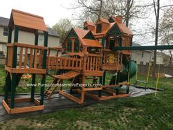 Gorilla empire extreme playset installation in frederick maryland