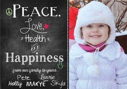 Chalk board effect Holiday Card
