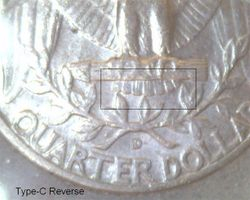 1964-D Type-C Reverse Close Up