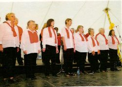 Whittlesea Township Choir with combined choirs performing