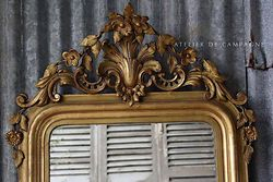 #27/133 FRENCH MIRROR LOUIS PHILIPPE DETAIL