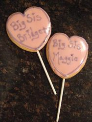 Big Sister Heart Cookie Pops
