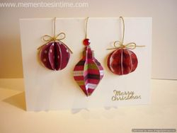 3 Layered Ornaments Card