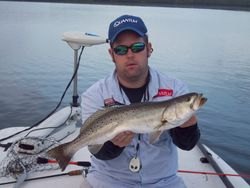 Capt.Josh with a monster trout