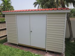8x12 low profile / Permatile roof