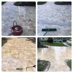 Travertine, Re-sand and Sealing