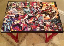 Top of Harley Quinn table