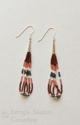 Beaded Loop Earrings with Sterling Silver Cone