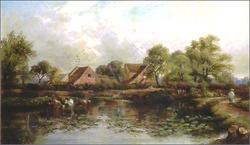 Lea Hall Farm, Wood Lane. 1850s.