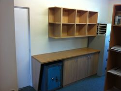 Bespoke office shelving and cupboards