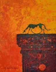 Le chien (Hommage à A.Giacometti)