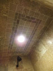 Master Shower Ceiling & LED Lighting