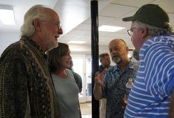 """Dick Stiener, Carolyn Stiener, Al Szal (""""60), Jerry Ripley ('60)"""