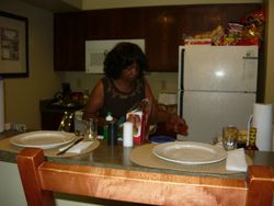 Our President- Sandra Harris cooking