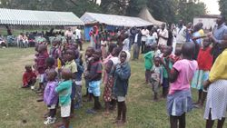 Ministering to the sick in Kenya