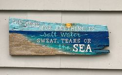 Salt Water Heals Anything Sign