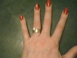 Valarie's left hand - 12/27/10