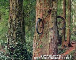 fiets vergeten